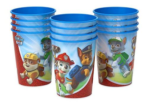 Paw Patrol - Vasos De Plástico Para Niños (12 Unidades)