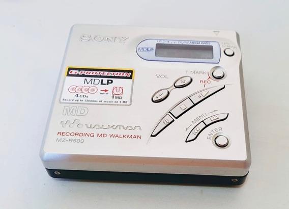 M D Walkman Sony Mz -r500 Minidisc Gravador Original Japonês