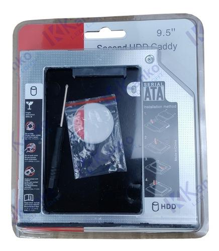 Imagem 1 de 4 de Case Adaptador Caddy Hd 9.5mm Dvd Sdd Gaveta Sata Notebook