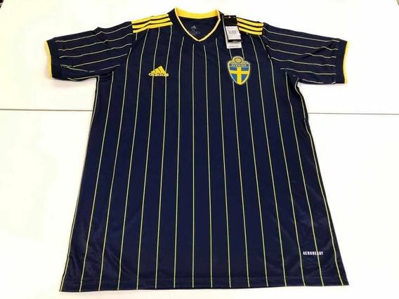 Camiseta Seleccion Suecia Azul Alternativa 2020