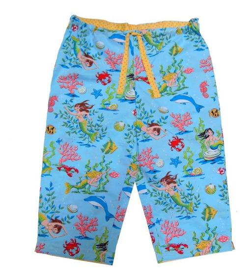 Nick & Nora Pantalon Corto Pijama Dama Xxl Sirenas
