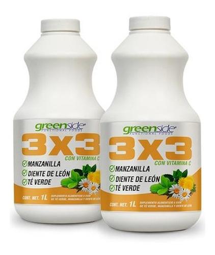 Imagen 1 de 4 de (2 Piezas) 3x3 Vitamina C 1 Litro Greenside