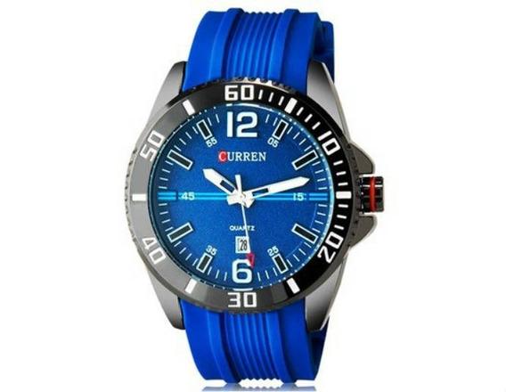 Relógio Masculino Curren Analógico Casual Azul Original