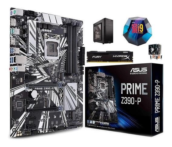 Kit Z390 Prime + I9-9900k + 16gb + Cooler + Gabinete Corsair