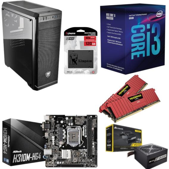 Pc Cougar Intel I3 8100 Mb H310m Hg4 Vg 16gb Vs400 Ssd 120gb