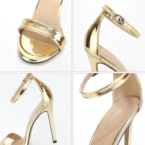 Sandálias Para Festas Estilo Ouro