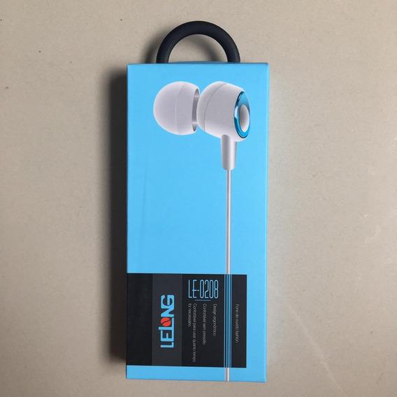 Fone De Ouvido Lelong Fashion Com Microfone Original Azul