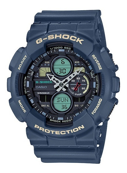 Relógio Casio G-shock Anadigi Azul Ga-140-2adr