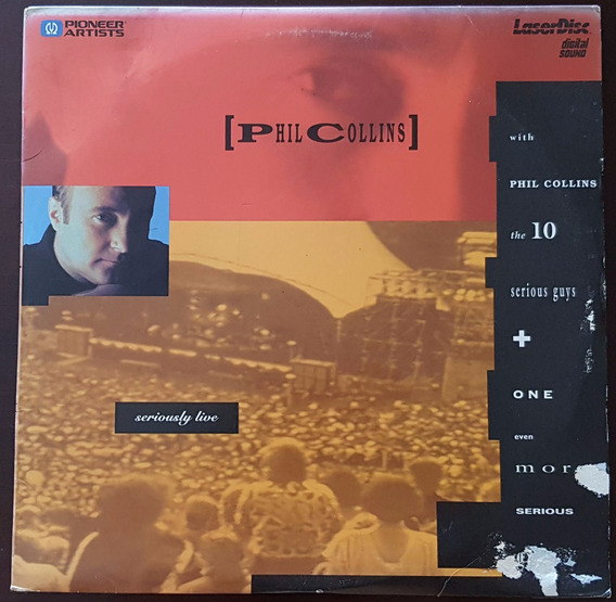 Laser Disc Phil Collins - Seriously Live