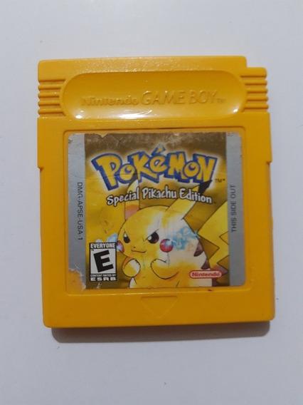 Pokemon Yellow Game Boy Original Americano! Bateria Nova!