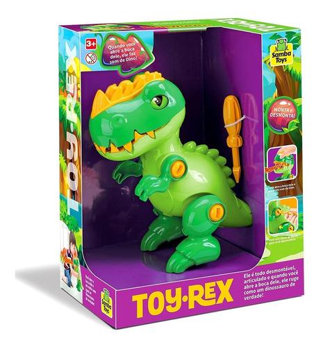 Imagem 1 de 5 de Dinossauro Toy Rex Monta E Desmonta - Samba Toys