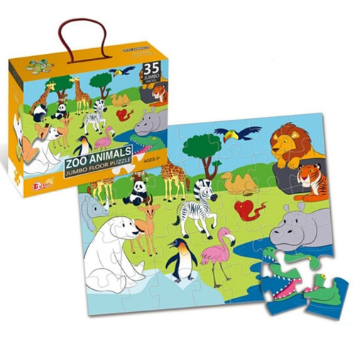 Mega Puzzle 35 Pcs  Zoologico