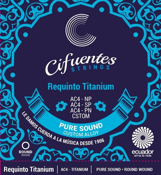 Cuerdas Requinto Pro Ac4 Pure Nickel Cifuentes Strings