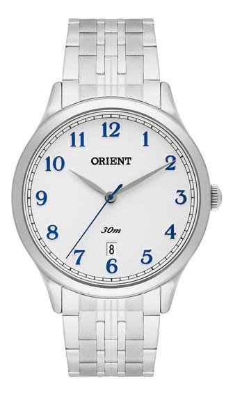 Relógio Orient Masculino Aço Original Branco Mbss1311 B2sx