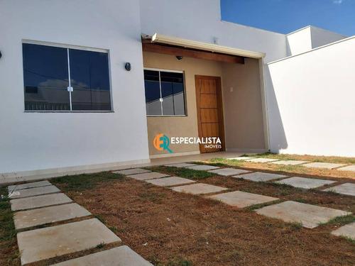 Casa Com 3 Dormitórios À Venda, 69 M² Por R$ 390.000,00 - Novo Centro - Santa Luzia/mg - Ca0276