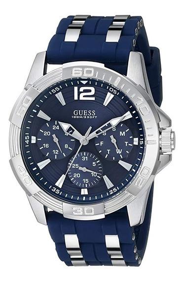 Reloj Guess Hombre - Sporty Silver Stainless - Azul/plateado