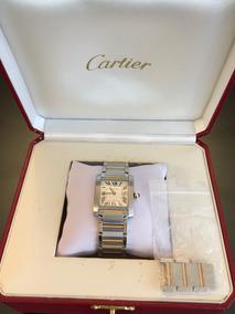 Relógio Cartier Tank Française Médio Em Aço E Ouro Original
