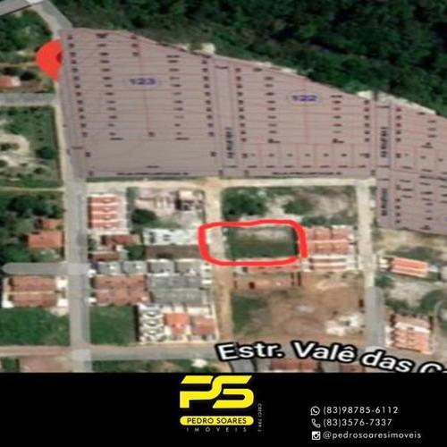 Imagem 1 de 1 de 2 Terreno À Venda, 720 M² Por R$ 80.000 - Jardim Recreio - Conde/pb - Te0171