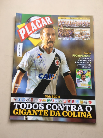 Revista Placar 1 Santos Fluminense Vaco Santa Cruz J866