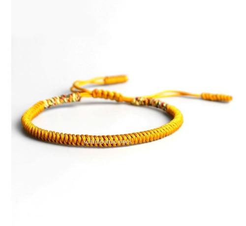 Nueva Pulsera Tibetana De La Suerte - Amarilla  -