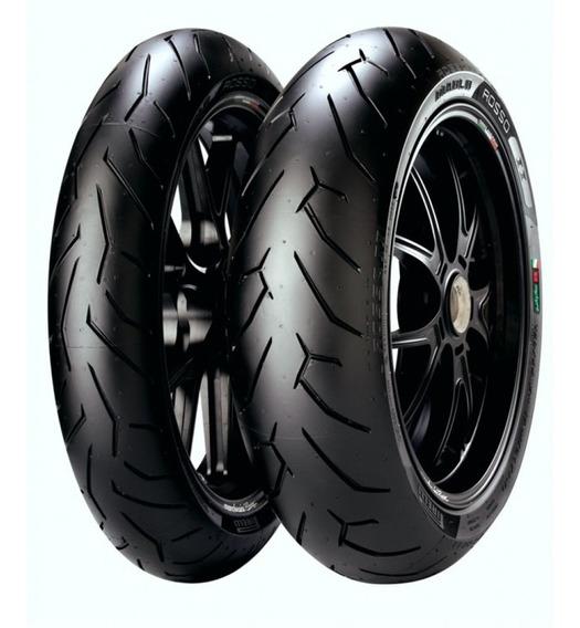 Kit De Pneus 150/60-17 + 110/70-17 Pirelli Diablo Rosso 2
