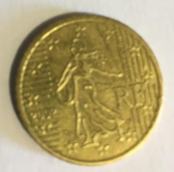 Moeda Da França 50 Centavos De Euro 2002