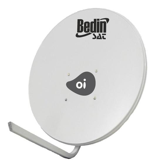 Antena De Tv Parabólica Banda Ku Chapa 75cm Bedin Sat