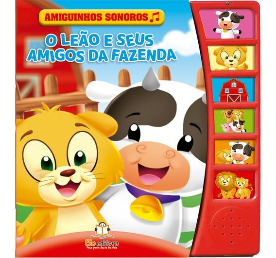 Livro Infantil Sonoro O Leão E Seus Amigos Da Fazenda