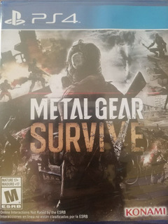 Metal Gear Survive Ps4 Español Sellado Delivery Stock Ya