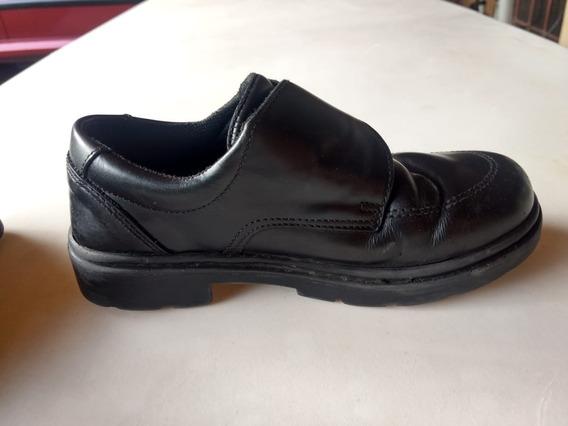 Zapatos Colegiales Kickers De Cuero Para Nene - Modelo: Kool