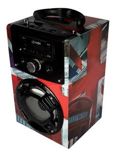 Bocina Bluetooth Recargable Portátil Karaoke Con Micrófono