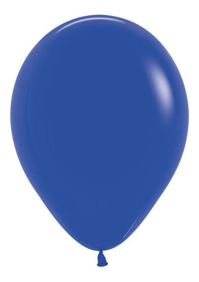 Bolsa Con 50 Globos Color Azul Rey 5 Pulgadas