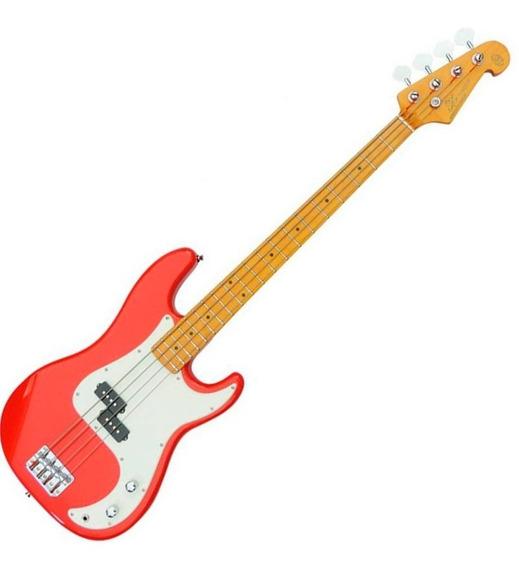 Contrabaixo Sx Precision Bass 4 Cordas Spb57fr Red Bag