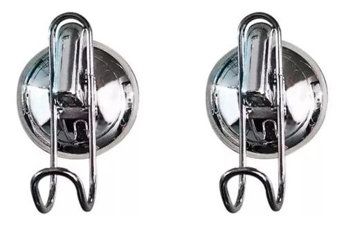 Ganchos Cromados X2 Con Sopapa Caño Sin Agujerear/perforar