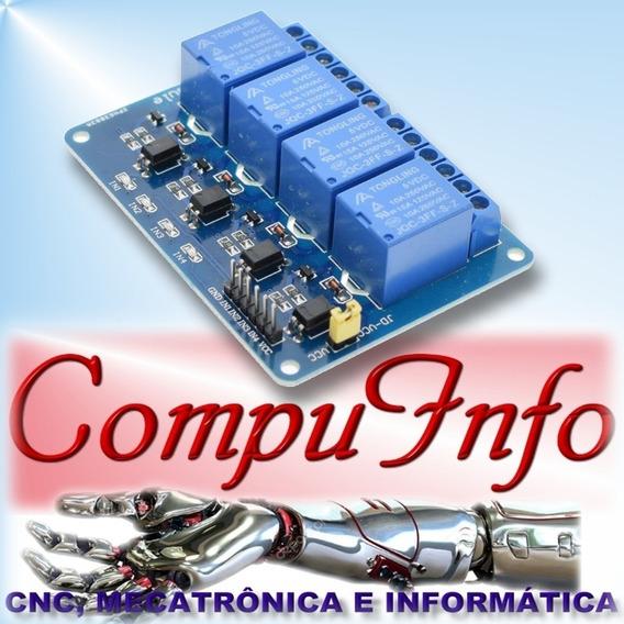 Modulo Relé 4 Canais Para Automação Arduino Raspberry