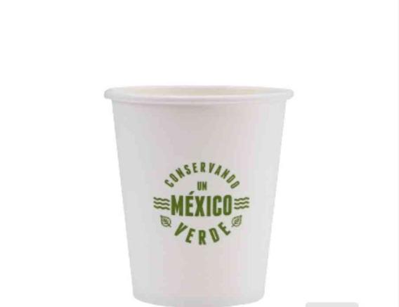 Vaso Para Cafe 10 Oz Con 1 Pack De Tapas Biodegradable
