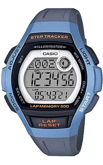 Relógio Casio Feminino Lap Memory60 Standard Lws-2000h-2avdf