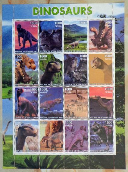 Somalía Dinosaurios, Bloque 16 Sellos 2001 Mint L7515