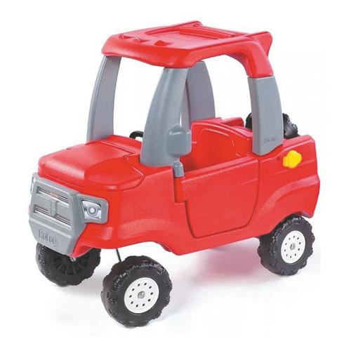 Camioneta Roja Borravino Y Accesorios Grises Rotoys Original