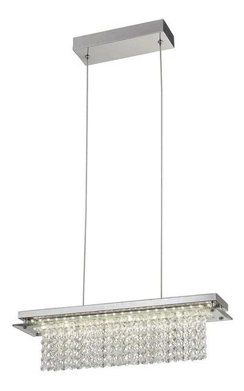 Pendente Led Versalhes Retangular 50cm Transparente 18w Luz Neutra Bivolt Quality