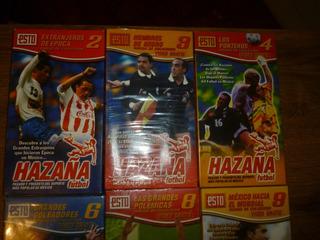 Hazaña Futbol, 6 Revistas Y Vhs,