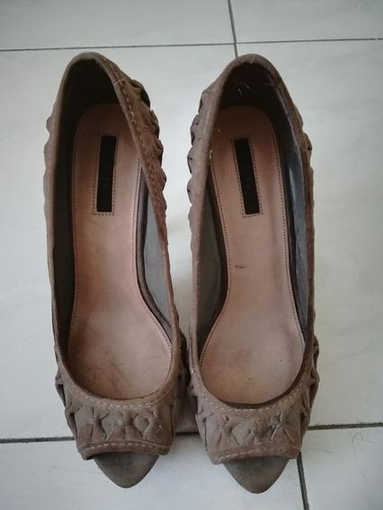 Zapatos Zara, Gris, Talla 37, Buen Estado.