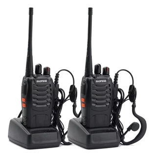 Kit X Handy Baofeng Radio Walkie Talkie Bf888s 16ch Uhf + Auricular Manos Libres