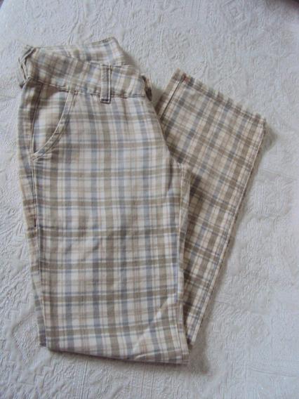 Calça Feminina Xadrez Verde Gazzy Tamanho 36 =r