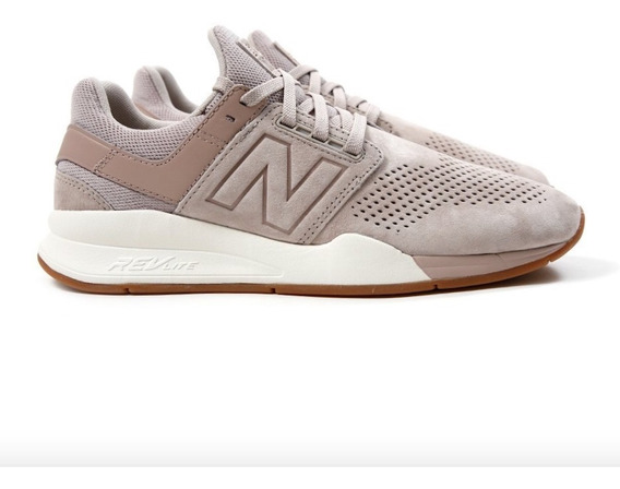 Tênis New Balance 247 Luxe Leather Pack Beige Ms247la