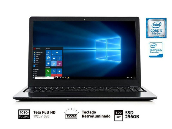 Notebook Vaio Fit 15s I7 7500u 8gb 256gb Ssd 15.6 Fhd W10h