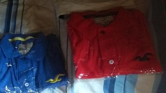 Kit Camiseta Polo Hollister Masculina Barato