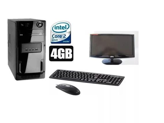 Pc Cpu Completo Core 2 Duo 4gb Hd 320+ Monitor 15lcd+barato