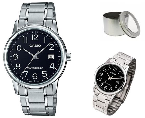 Reloj Casio Quartz Mtpv002 Hombre Acero *watchsalas*