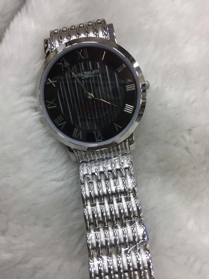Relógio Patek Philippe Fino Pulseira Aço Grande Ppgpc-004